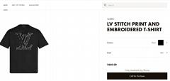 lv stitch print and embroidered t-shirt lv tshirt lv men tshirt  1A83R1 noir  (Hot Product - 1*)