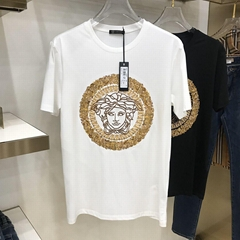 Newest versace embroidered medusa t-shirt versace tshirt  (Hot Product - 2*)