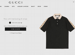 Gucci Cotton polo with Interlocking G stripe black cotton piquet  Gucci polo  (Hot Product - 1*)