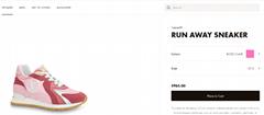 lv run away sneaker lv women shoes lv shoes lv sneaker rose clair 1A6439
