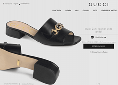 Gucci Zumi leather slide sandal gucci slide black leather gucci sandal women