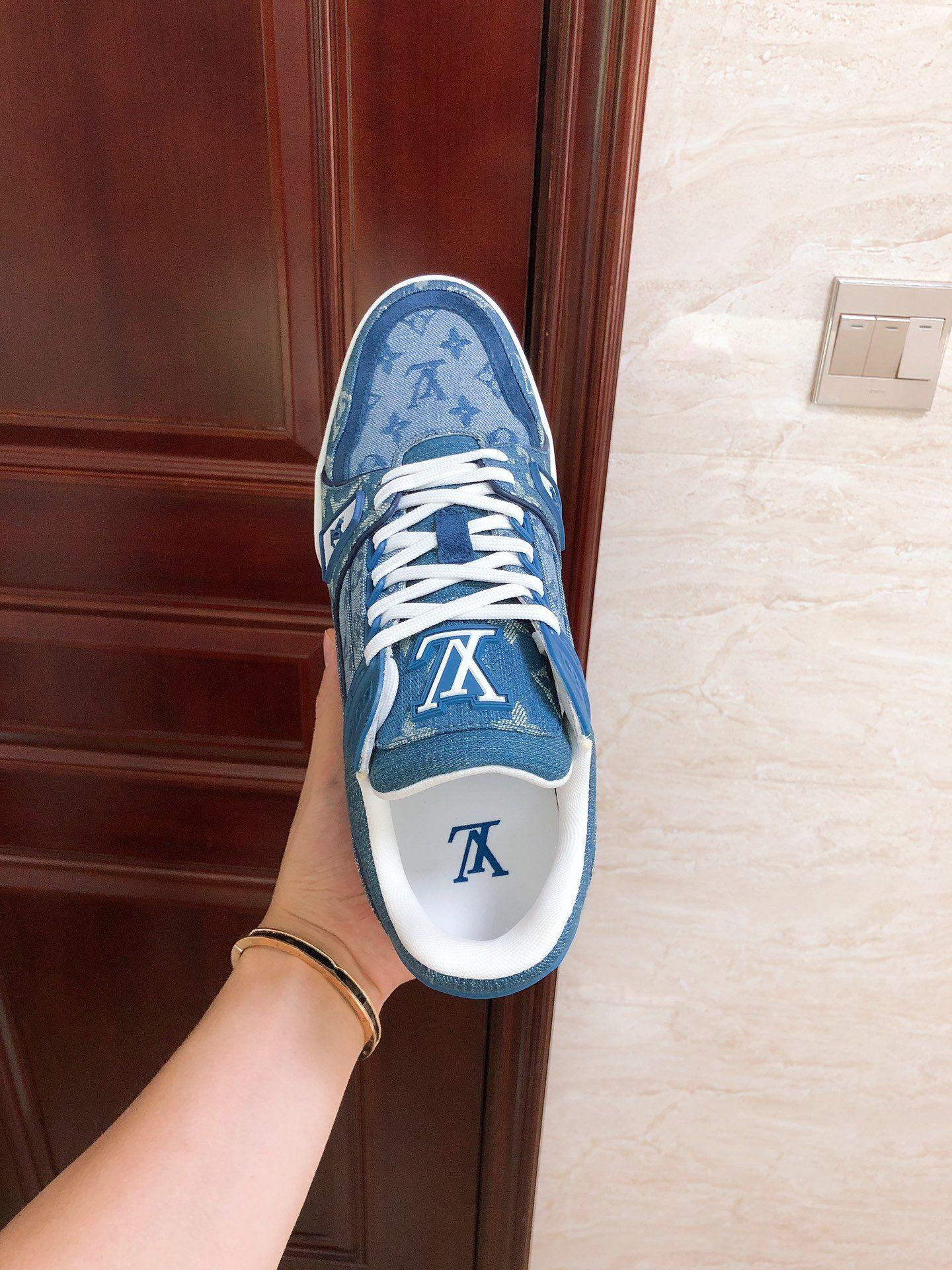 trainer sneaker Blue Monogram denim    sneaker    shoes 1A7S51 9