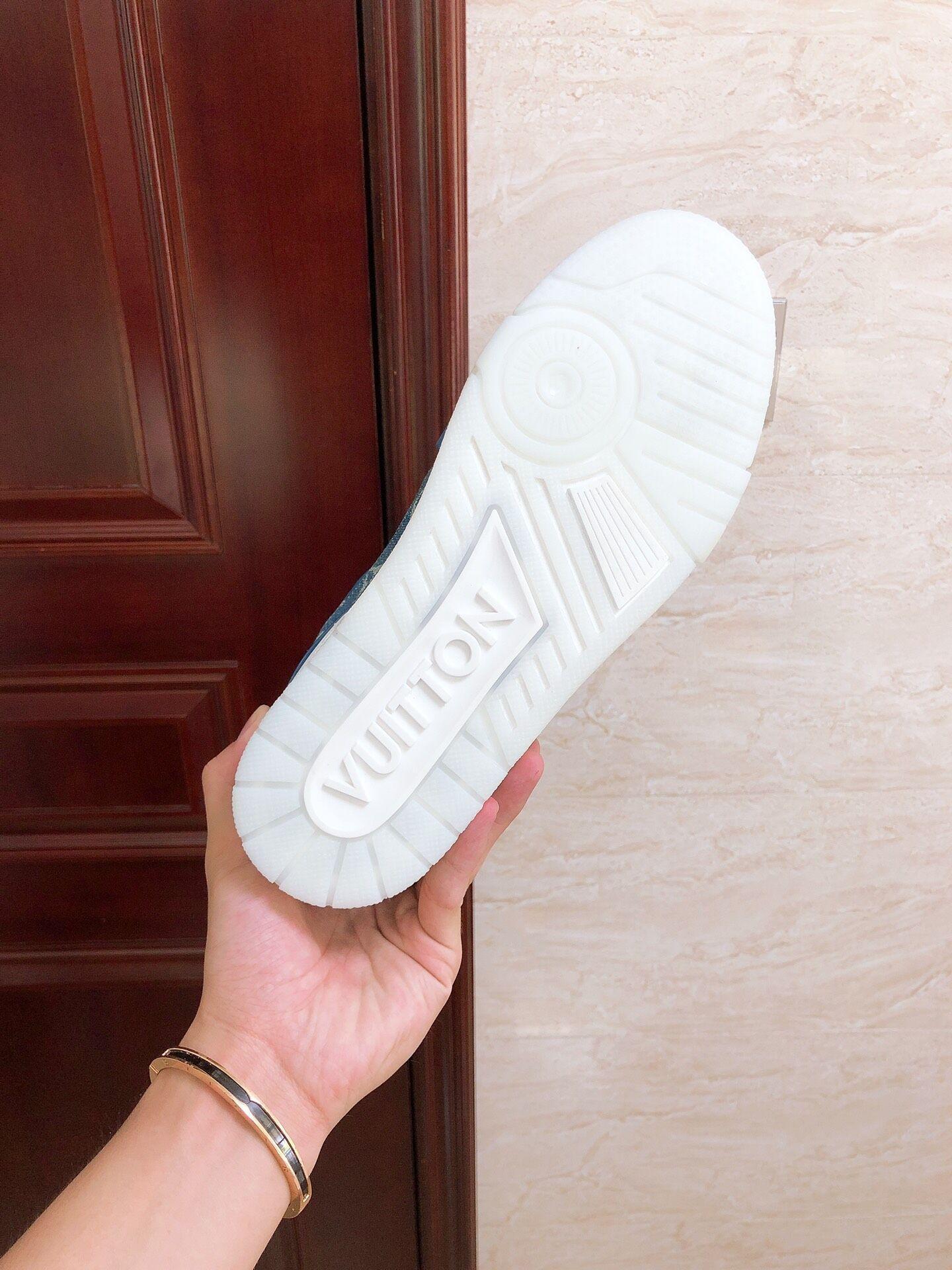 trainer sneaker Blue Monogram denim    sneaker    shoes 1A7S51 4
