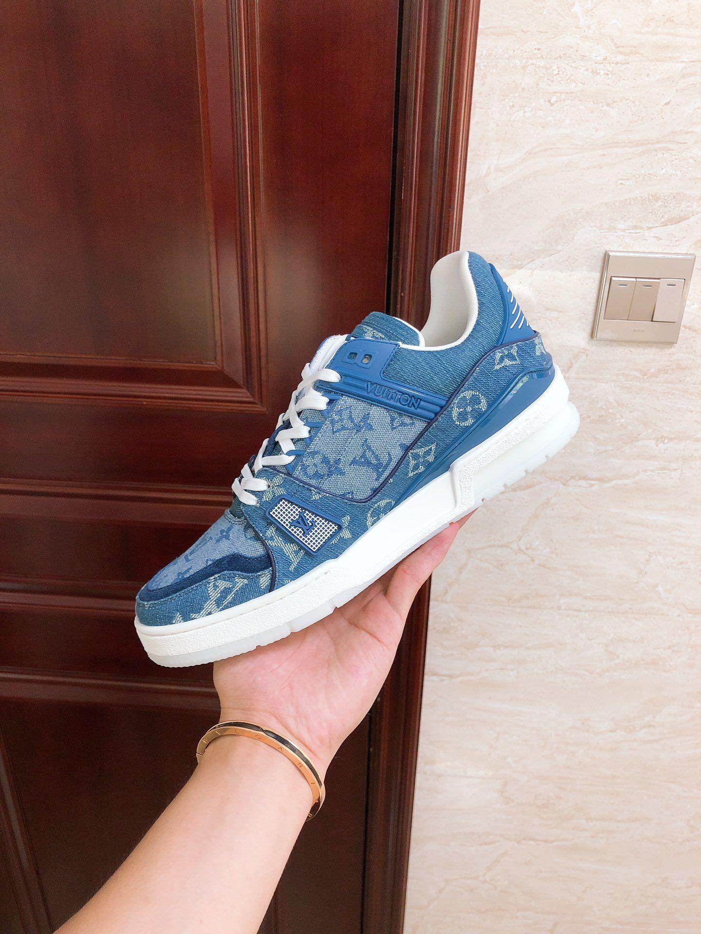 trainer sneaker Blue Monogram denim    sneaker    shoes 1A7S51 5