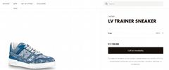 trainer sneaker Blue Monogram denim    sneaker    shoes 1A7S51