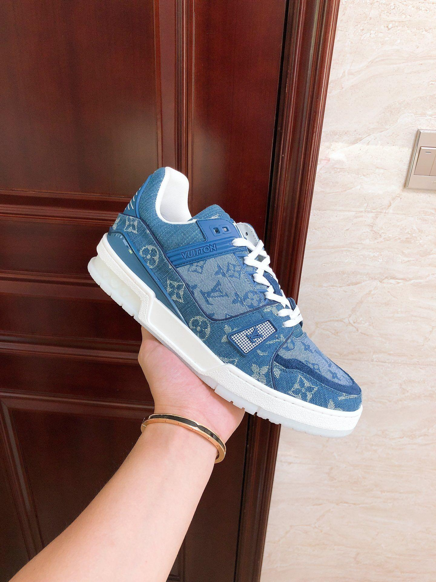 trainer sneaker Blue Monogram denim    sneaker    shoes 1A7S51 8