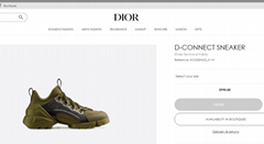 Dior D-CONNECT SNEAKER Khaki Technical Fabric Dior sneaker women shoes