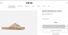 Dior Granville Mule Cream Embroidered Cotton dior sandal dior slide women