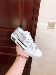 Dior B23 LOW-TOP SNEAKER White Canvas with DIOR AND DANIEL ARSHAM dior men shoes