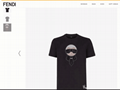 Fendi Black jersey T-shirt with crystals fendi tshirt fendi men tshirt
