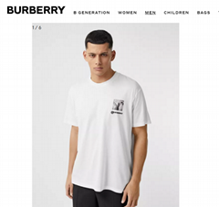 Burberry Montage Print Cotton Oversized T-shirt Burberry tshirt