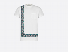 Dior and shawn oversized t-shirt white cotton jersey dior tshirt