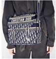 CAMP BAG Blue      Oblique Embroidery  1