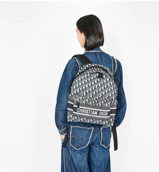 TRAVEL BACKPACK Blue      Oblique Jacquard      backpack  2