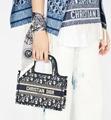 MINI      BOOK TOTE Blue      Oblique Embroidery      mini tote bags  1
