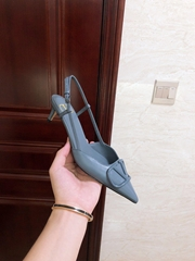 GARAVANI VLOGO CALFSKIN SLINGBACK PUMP  4.5cm and 8cm           heels
