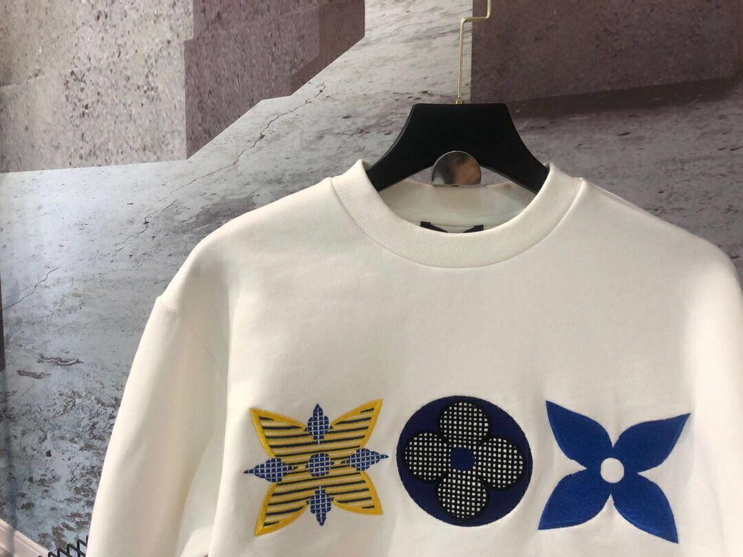 lv flower monogram embroidered sweatshirt lv sweashirt  3