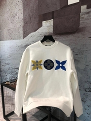 lv flower monogram embroidered sweatshirt lv sweashirt