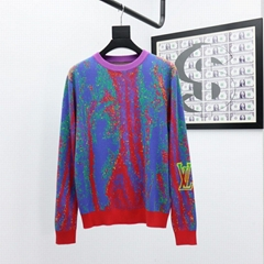 lv acquard crewneck sweater lv sweater lv men sweater 1A7X9X