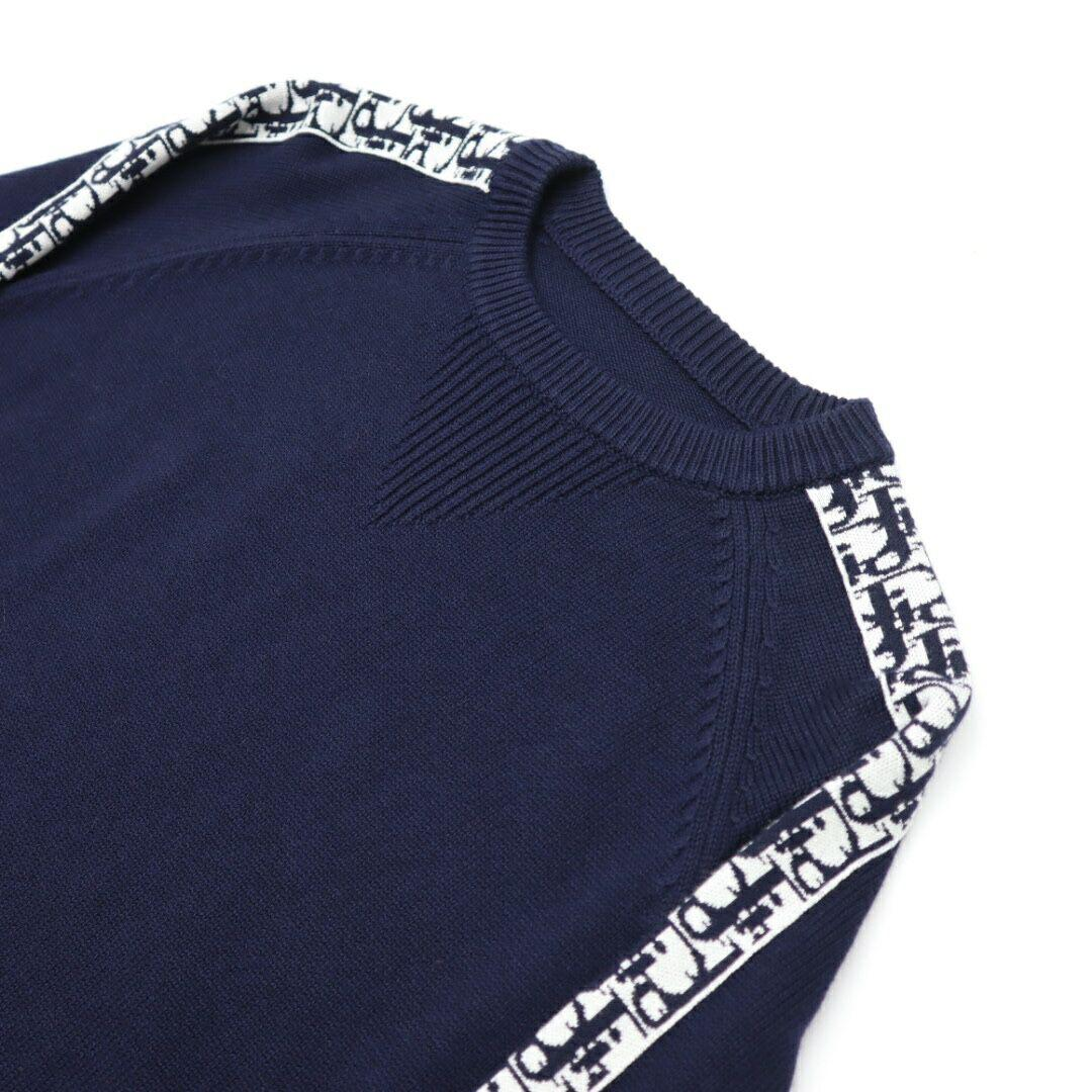 sweater with dior oblique band navy blue Cotton  4