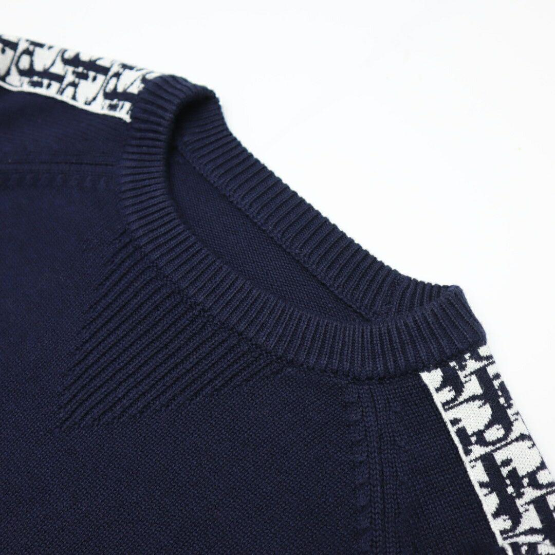 sweater with dior oblique band navy blue Cotton  5