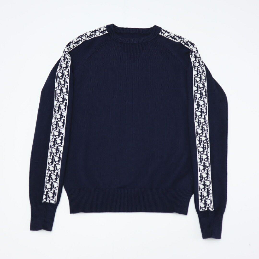 sweater with dior oblique band navy blue Cotton  8
