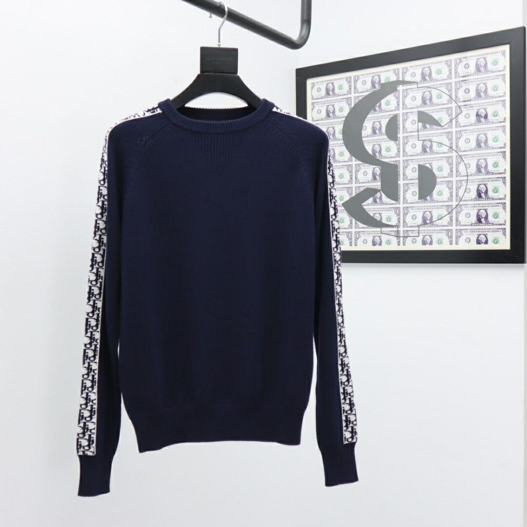 sweater with dior oblique band navy blue Cotton  1