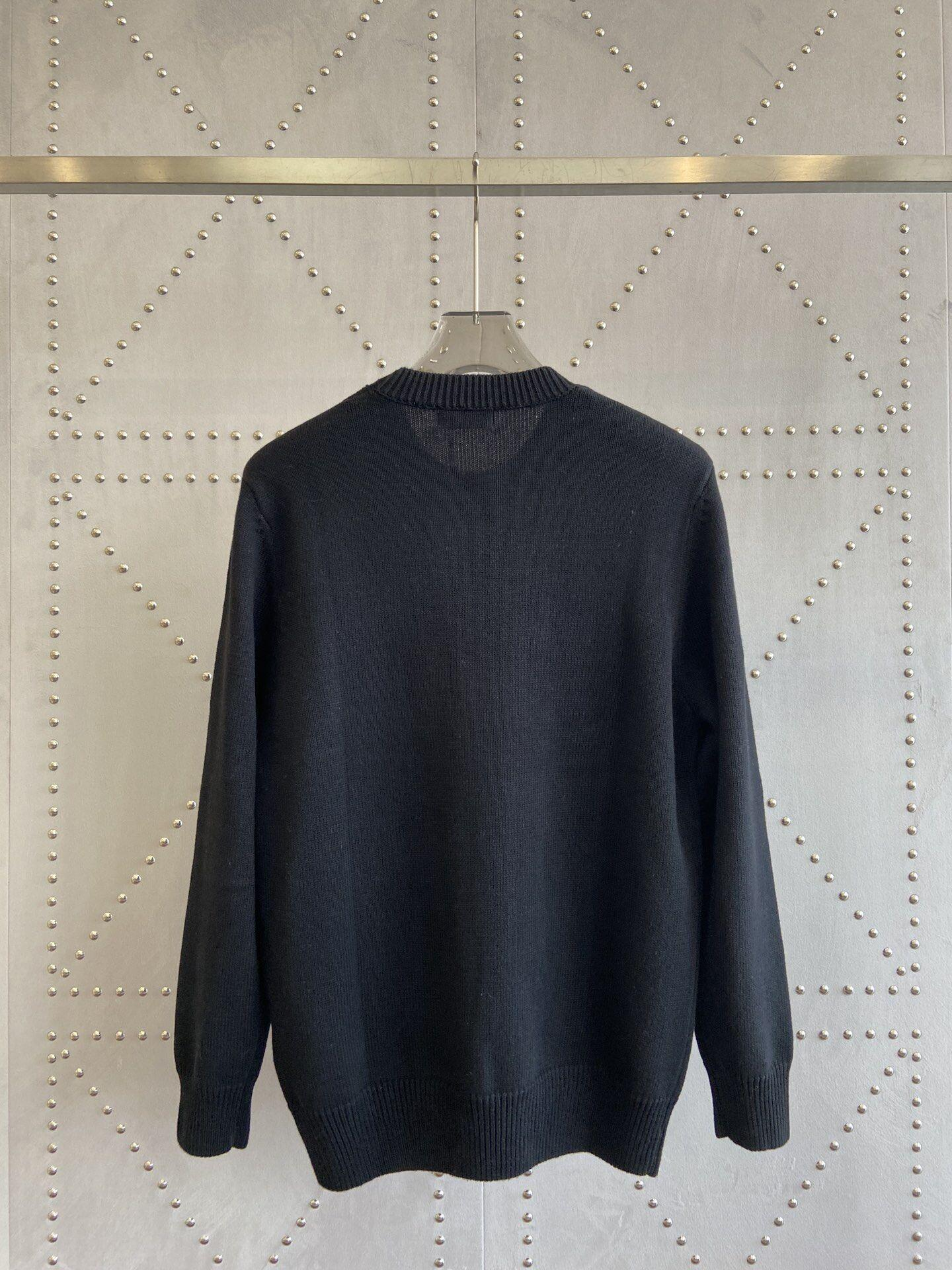 PULLOVER Black wool sweater       sweater       men sweater  3