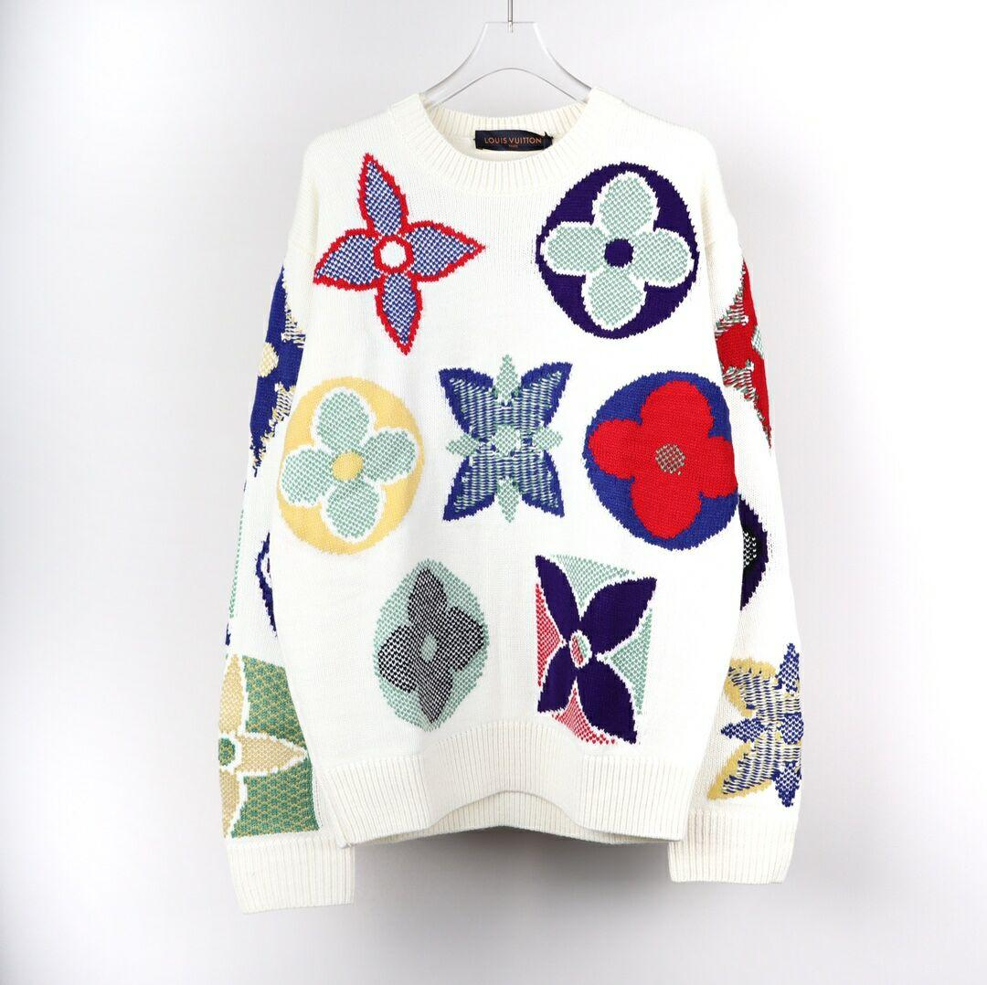 LV MULTICOLOR MONOGRAM CREWNECK SWEATER LV SWEATER LV MEN SWEATER 1A7XB9 1