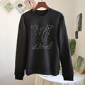 LV STITCH PRINT EMBROIDERED SWEATSHIRT