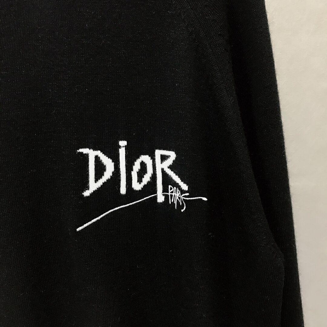 Dior and shawn sweater black cashmere dior sweater black dior sweater   2