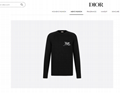Dior and shawn sweater black cashmere dior sweater black dior sweater   1