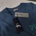DIOR AND SHAWN SWEATER Blue Cashmere Intarsia