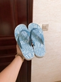 FLIP-FLOPS Blue Nylon with DIOR AND SHAWN Embroidery 4