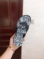 Dior FLIP-FLOPS Black Nylon with DIOR AND SHAWN Embroidery dior slide sandal