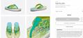 Dior FLIP-FLOPS DIOR AND SHAWN Nylon Jacquard dior slide