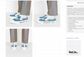 B23 SLIP-ON SNEAKER Blue Canvas with DIOR AND SHAWN Signature dior sneaker dior