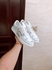 GARAVANI CALFSKIN VL7N SNEAKER WITH BANDS           sneaker  WHITE/ICE