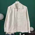 DIOR AND SHAWN ZIPPED SHIRT Off-White Ribbed Cotton Jersey Dior shirt dior men