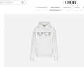 OVERSIZED HOODED SWEATSHIRT WITH 3D ERODED DIOR AND DANIEL ARSHAM SIGNATURE  2
