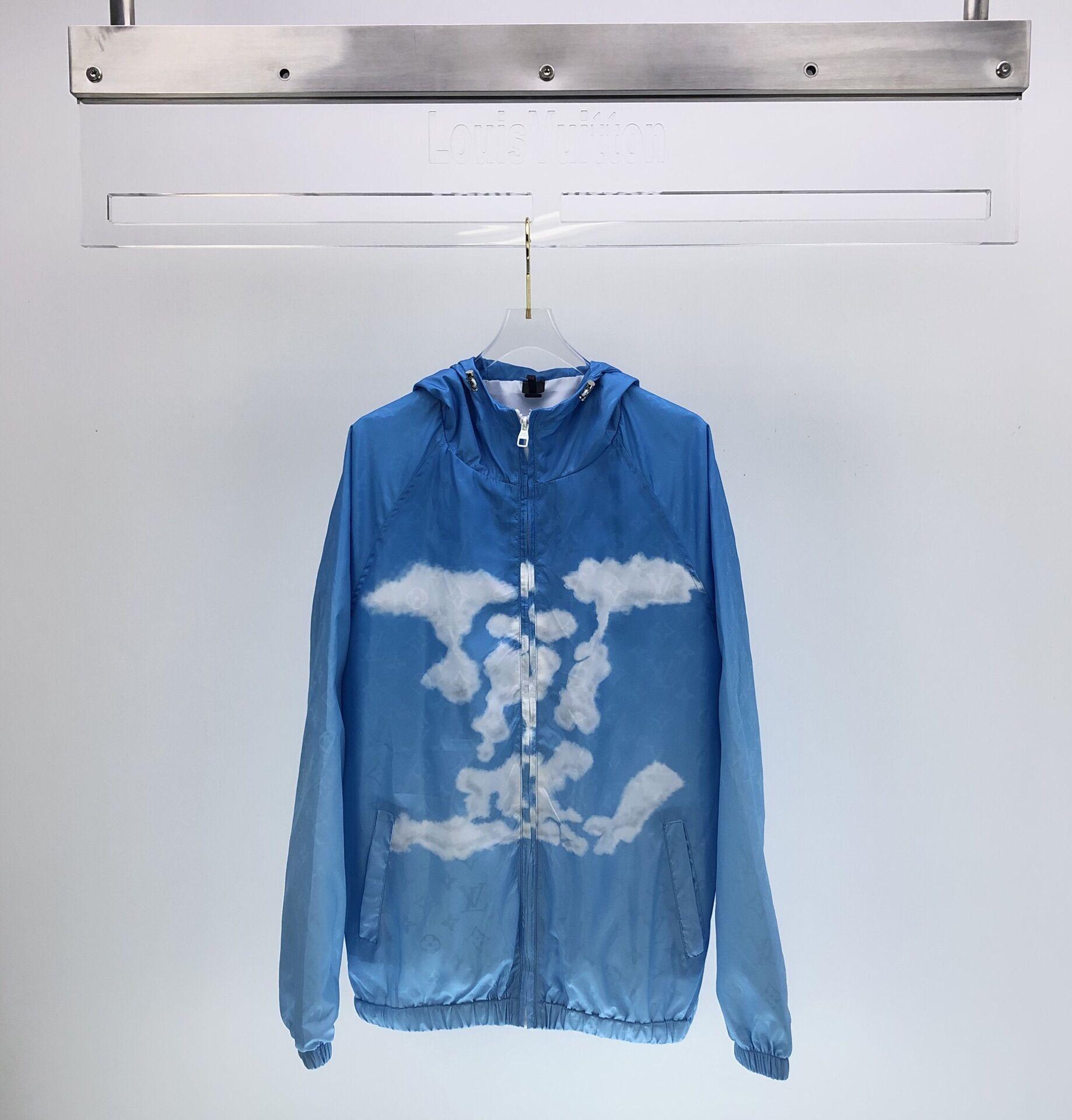 LV MONOGRAM CLOUDS WINDBREAKER lv jacket lv windbreaker  1