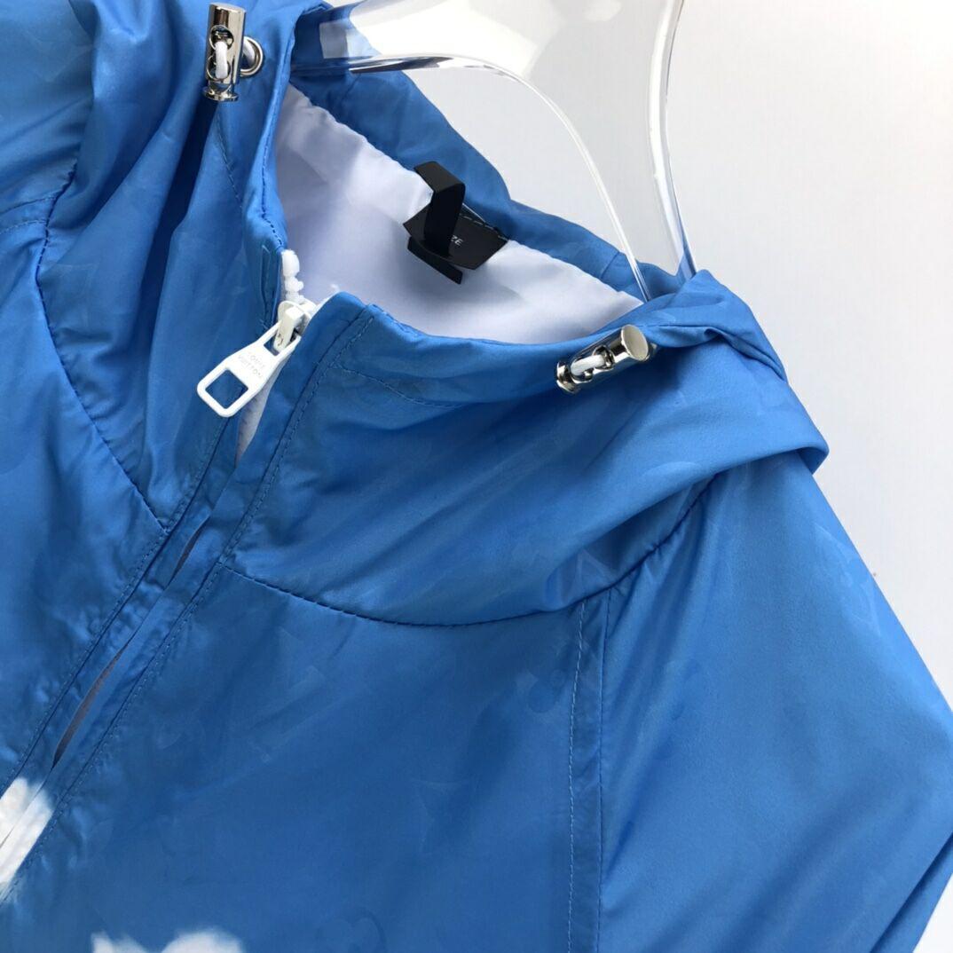 LV MONOGRAM CLOUDS WINDBREAKER lv jacket lv windbreaker  4
