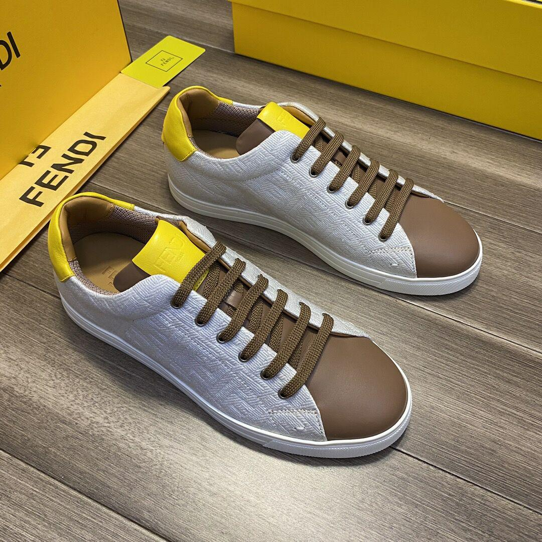 Multicolor canvas and leather low-tops       sneaker Lace-up low-top  4