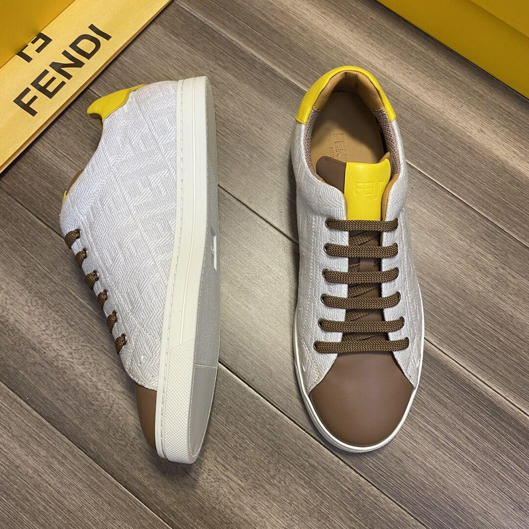 Multicolor canvas and leather low-tops       sneaker Lace-up low-top  5