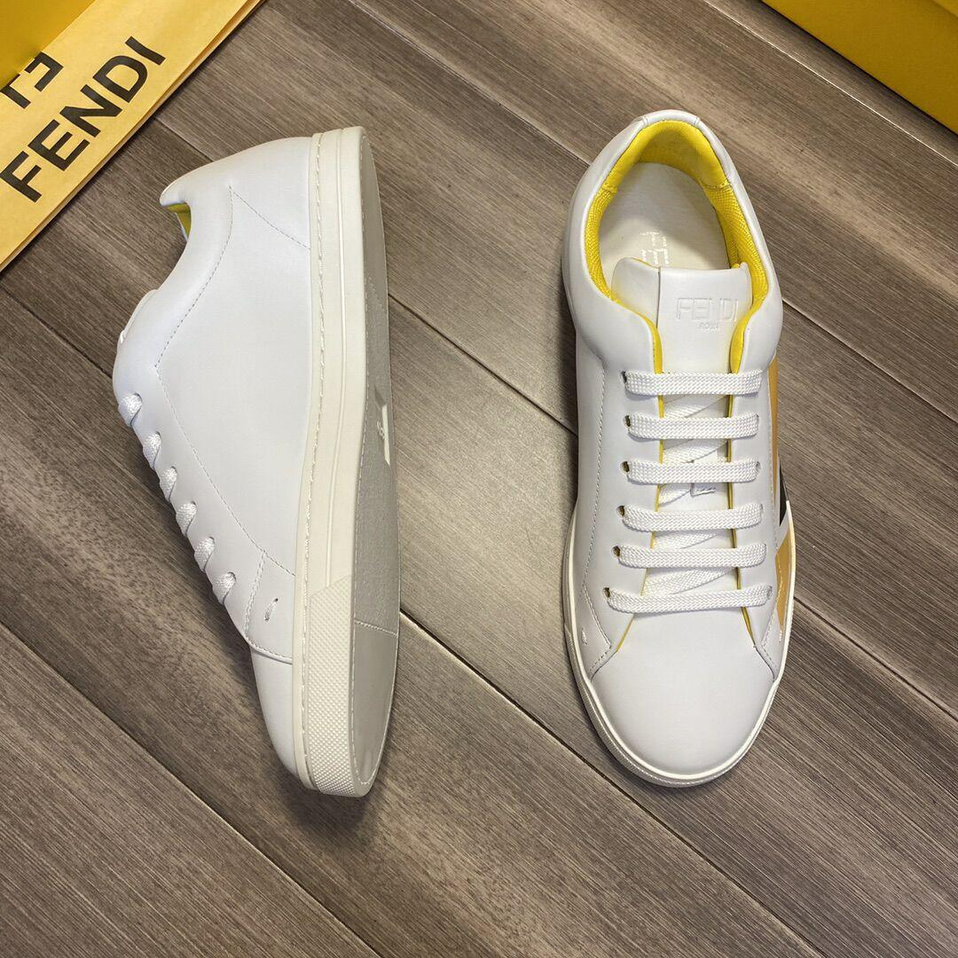 White leather low-tops sneaker       sneaker       shoes       men shoes  3