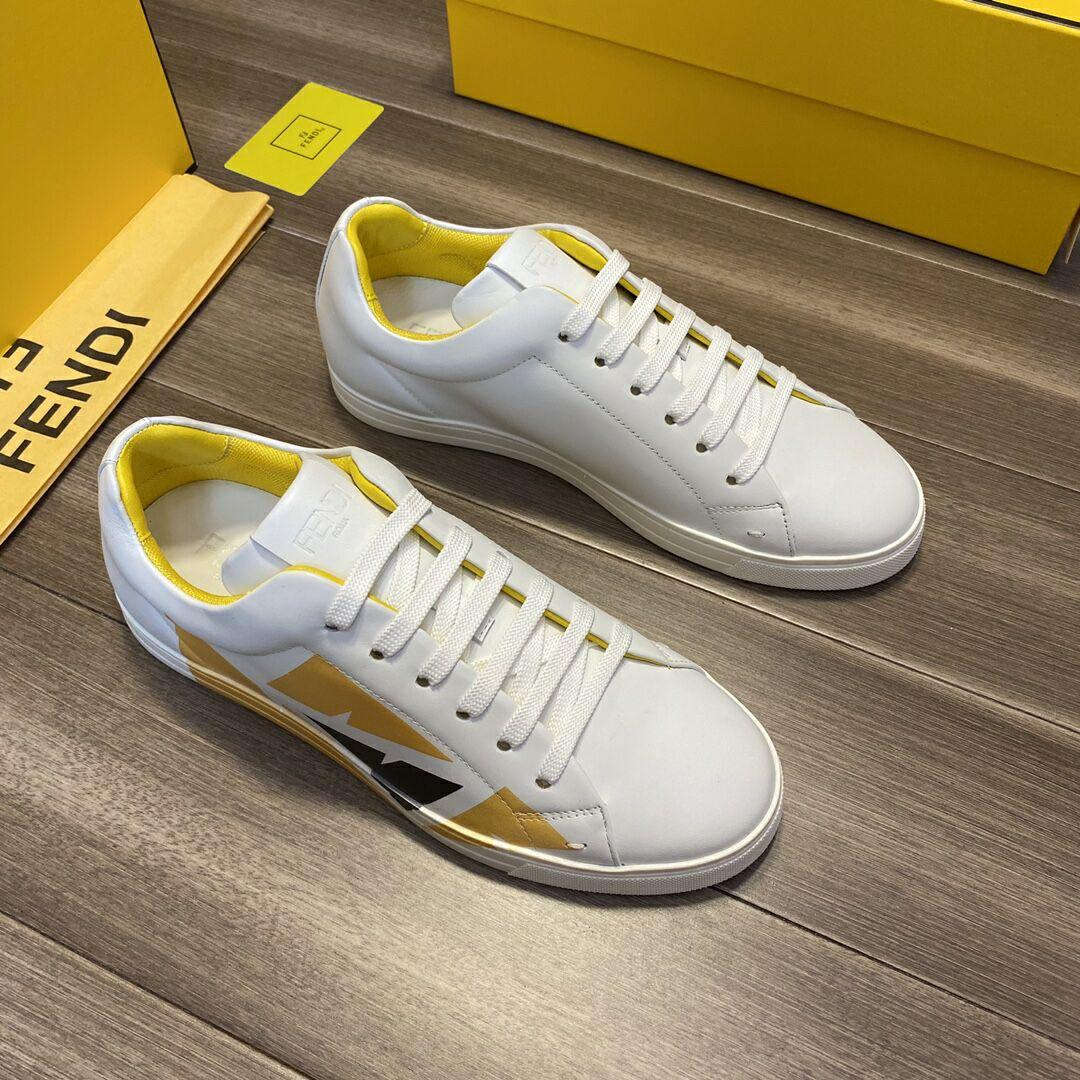 White leather low-tops sneaker       sneaker       shoes       men shoes  4