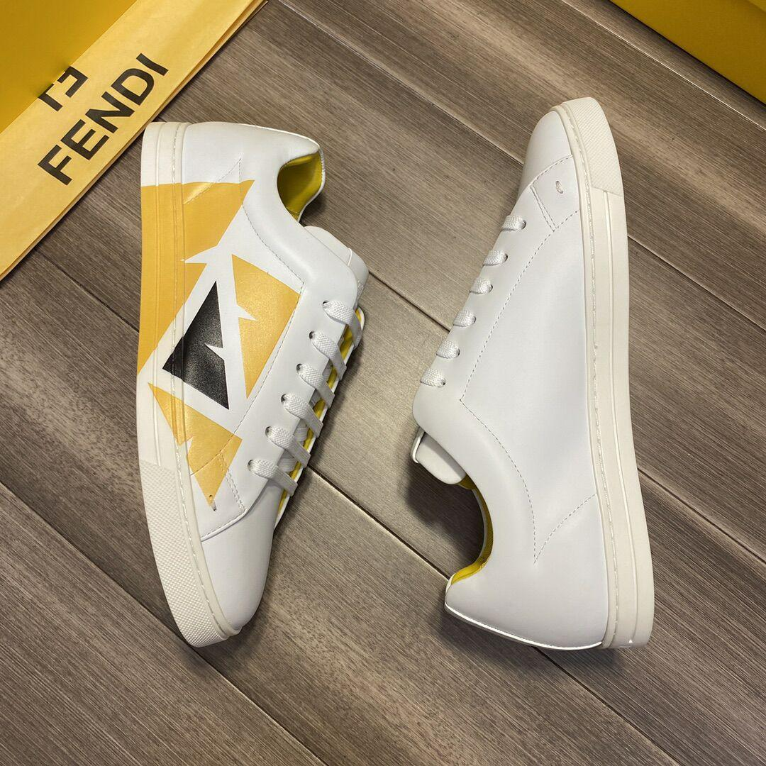 fendi White leather low-tops sneaker fendi sneaker fendi shoes fendi men shoes  5