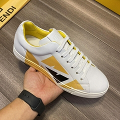 White leather low-tops sneaker       sneaker       shoes       men shoes