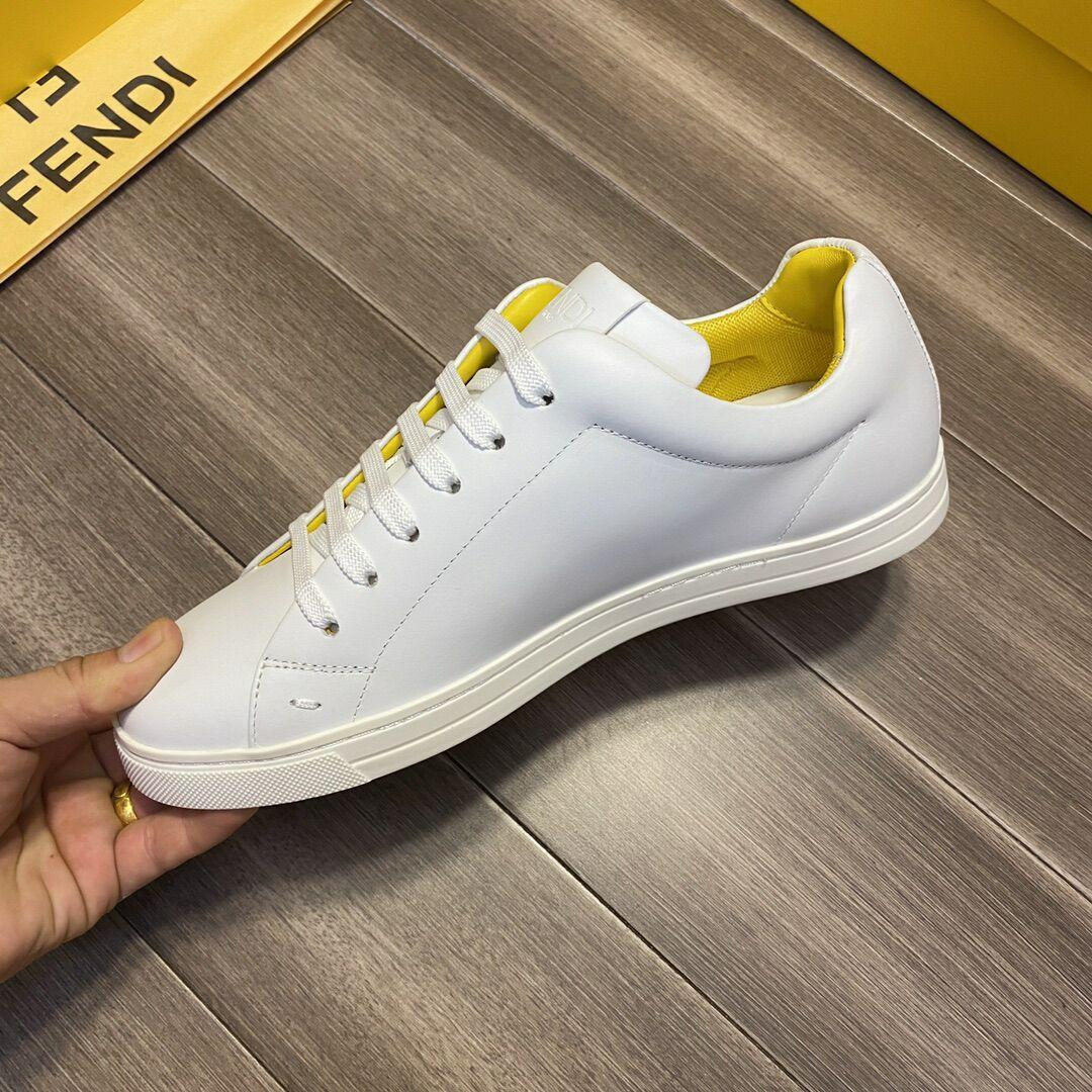 fendi White leather low-tops sneaker fendi sneaker fendi shoes fendi men shoes  8