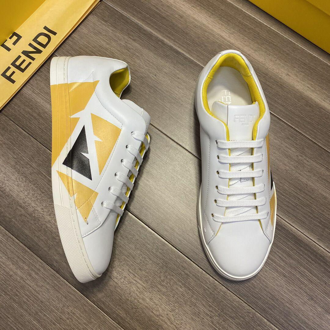 fendi White leather low-tops sneaker fendi sneaker fendi shoes fendi men shoes  9